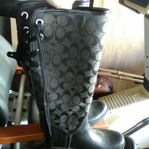 Coach Shoes - coach tristee rainboots rain boots tie lace up  6